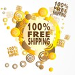 creative art 100 percent freeshipping icon