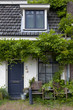 Tiny house with green plants