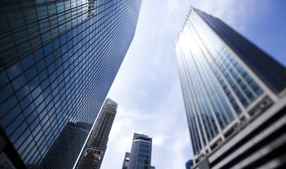 Skyline of Singapore, financial centre