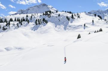 Querfeldein im Schnee wandern