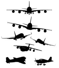 Passagierflugzeuge Kollektion sw