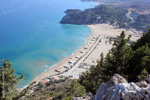 Areal view from Agia Tsambika, Rhodes east side, Greece