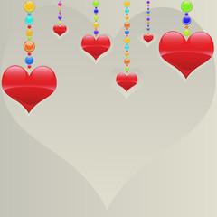 cœurs perles
