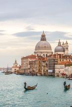 Vue de la basilique de Santa Maria della Salute, Venise, Italie