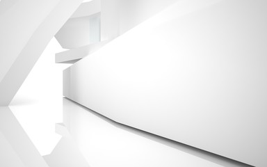 Abstract Architecture. abstract white building on a white backg