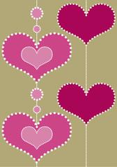 cœurs pointillés