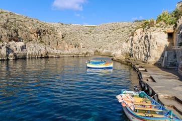 Boats in Wied iz-Zurrieq - Malta