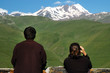 Mount Kazbek at spring