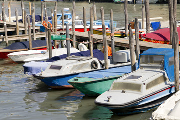 Moored boats in Venice