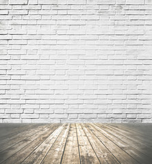 Background of grungy wood and stone brick wall texture