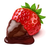 strawberry in chocolate