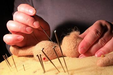 Изготовление куклы из шерсти