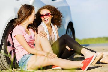 Women near car