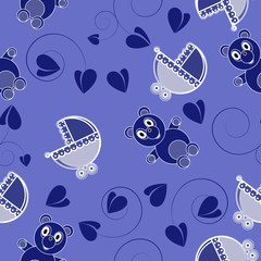Children abstract seamless pattern