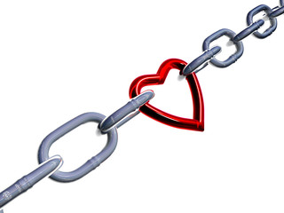 Heart-link between two chains