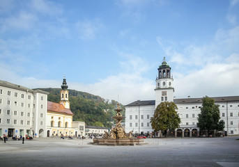 Residenzplatz in Salzburg, Austria