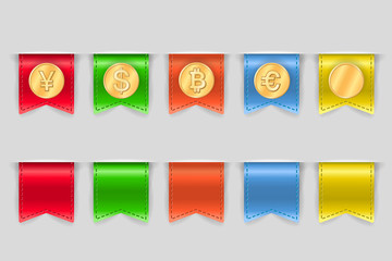 Collection of coins for finance