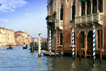Historic buildings in the Grand Canal of Venice