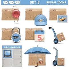 Vector Postal Icons Set 5