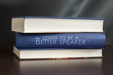 Learn to be a better speaker. Book concept.