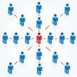 ビジネスマン ネットワーク
