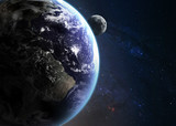 Earth in space. Elements of this image furnished by NASA - 60353698