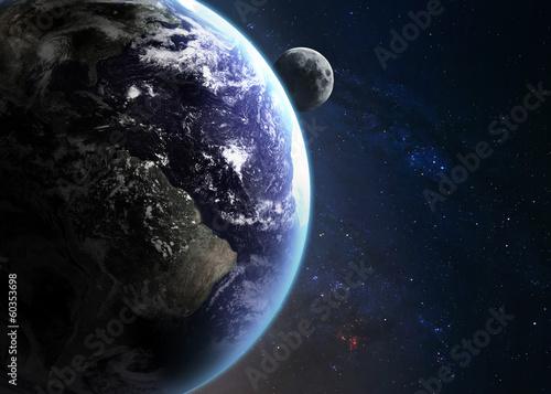 fototapeta na ścianę Ziemia w przestrzeni. Elementy tego zdjęcia dostarczone przez NASA