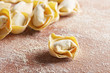 Handmade italian tortellini pasta