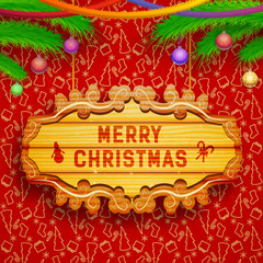 Merry Christmas creative background.