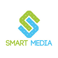 Green - blue smart media logo