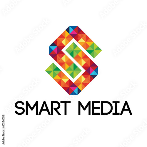Colorful smart media logo