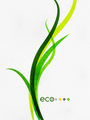 Green eco nature minimal floral concept | flying leaves