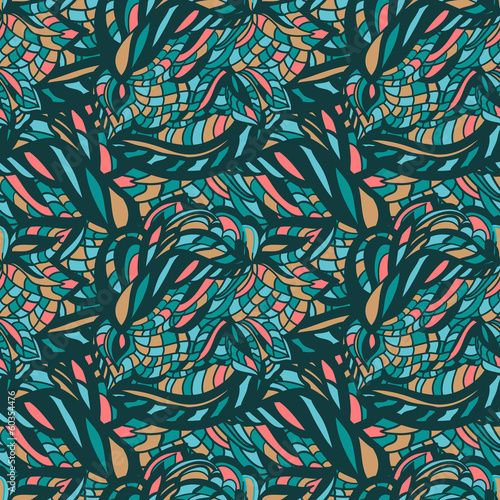 Waves background, vector design element, abstract pattern