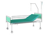 Medical bed isolated  at the white background