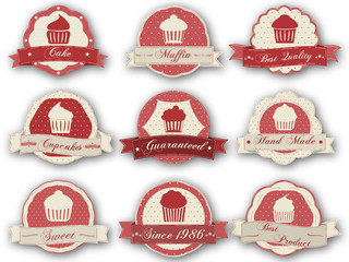 Retro muffin labels