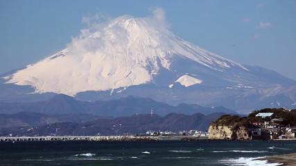 湘南から望む富士山(超望遠)