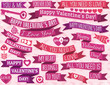 set of many ribbon valentine's design, vector
