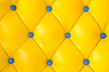 Blue buttoned on the yellow Texture.