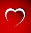 red heart from paper