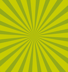 Green sunburst background.