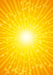 Beautiful lens sunburst background.