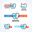 dental tooth symbol sign icons set
