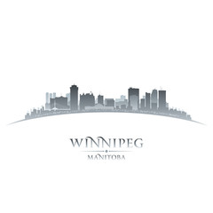 Winnipeg Manitoba Canada city skyline silhouette white backgroun