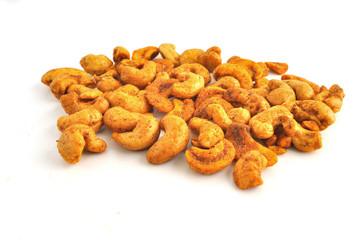 pikante Cashewkerne oder Nüsss mit Gewürzen