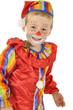 Kleiner Junge als Clown verkleidet