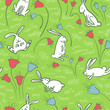 background with bunnies