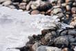 Ice on stones.