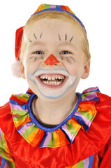 Kleiner Clown lacht