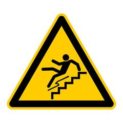 symbol for trip hazard stairs german stolpergefahr treppe g428