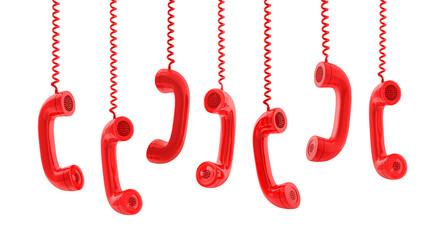 Rote Telefonhörer